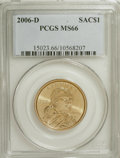 Sacagawea Dollars, 2006-D $1 Sac MS66 PCGS. PCGS Population (335/221). Numismedia Wsl. Price for NGC/PCGS coin in MS66: $1...