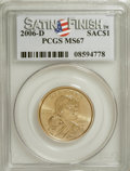 Sacagawea Dollars, 2006-D $1 Sac MS67 Satin Finish PCGS. PCGS Population (218/3).Numismedia Wsl. Price for NGC/PCGS coin ...