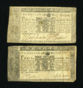 Colonial Notes:Maryland, Maryland April 10, 1774 $1. Two Examples. Very Fine.... (Total: 2notes)