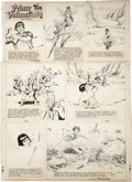 Original Comic Art:Comic Strip Art, Hal Foster Prince Valiant Sunday Comic Strip #1124 Original Art, dated 8-24-58 (King Features Syndicate, 1958)....