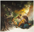 Original Comic Art:Covers, Boris Vallejo 1978 Tarzan Calendar Cover Painting OriginalArt (Ballantine Books, 1977).... (Total: 2 Items)