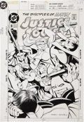 Original Comic Art:Covers, Mike Parobeck and Jeff Albrecht Justice Society of America #8 Cover Original Art (DC, 1993).... (Total: 2 )