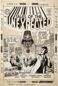Original Comic Art:Covers, Mort Meskin Tales of the Unexpected #10 Cover Original Art(DC, 1956).... (Total: 2 Items)