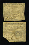 Colonial Notes:Pennsylvania, Two Colonial Notes.. ... (Total: 2 notes)