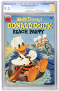Golden Age (1938-1955):Funny Animal, Dell Giant Comics Donald Duck Beach Party #1 (Dell, 1954) CGC VF/NM9.0 Off-white to white pages....
