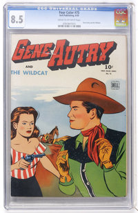 Four Color #75 Gene Autry and the Wildcat (Dell, 1945) CGC VF+ 8.5 Cream to off-white pages