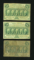 Fractional Currency:First Issue, Fr. 1312 50c First Issue. Three Examples.... (Total: 3 notes)