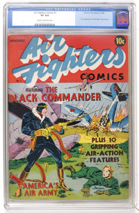 Air Fighters Comics #1 (Hillman Fall, 1941) CGC VF 8.0 Cream to off-white pages