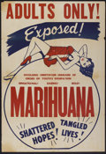 "Movie Posters:Cult Classic, Marihuana (Roadshow Attractions, 1936). One Sheet (27"" X 41""). CultClassic...."