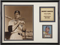 Autographs:Others, Mickey Mantle Signed Photo and Plaque....