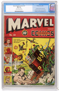 Marvel Mystery Comics #10 (Timely, 1940) CGC FN- 5.5 Cream to off-white pages