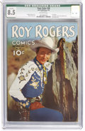 Golden Age (1938-1955):Western, Four Color #38 Roy Rogers (Dell, 1944) CGC Qualified VF+ 8.5Off-white pages....