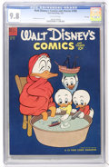 Golden Age (1938-1955):Cartoon Character, Walt Disney's Comics and Stories #160 File Copy (Dell, 1954) CGCNM/MT 9.8 Off-white pages....