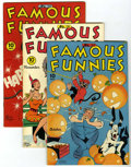 Golden Age (1938-1955):Miscellaneous, Famous Funnies File Copy Group (Eastern Color, 1945-47) Condition: Average VF+.... (Total: 4 Comic Books)