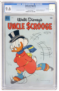 Uncle Scrooge #8 File Copy (Dell, 1954) CGC NM+ 9.6 Off-white to white pages