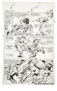 Dick Ayers and Carl Hubbell - Sgt. Fury #22, page 8 Original Art (Marvel, 1965)