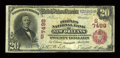 National Bank Notes:Louisiana, New Orleans, LA - $20 1902 Red Seal Fr. 641 The Peoples NB Ch. # (S)7498. ...