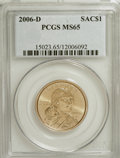 Sacagawea Dollars, 2006-D $1 Sac MS65 PCGS. PCGS Population (218/0). Numismedia Wsl. Price for NGC/PCGS coin in MS65: $9.5...