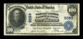 National Bank Notes:Louisiana, New Orleans, LA - $100 1902 Plain Back Fr. 699 The Whitney-Central NB Ch. # 3069. ...