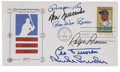 Autographs:Bats, Brooklyn Dodgers Greats Multi-Signed First Day Cover....