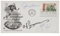 Football Collectibles:Others, Pro Football Hall of Famers Multi-Signed First Day Cover....