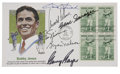 Golf Collectibles:Autographs, Golf Hall of Famers Multi-Signed First Day Cover....
