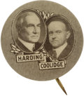 "Political:Pinback Buttons (1896-present), Harding & Coolidge: Classic 7/8"" Jugate Button...."