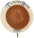 Political:Pinback Buttons (1896-present), Theodore Roosevelt: Rare Three-Dimensional Hat in the Ring Buttonfrom the 1912 Bull Moose Campaign....