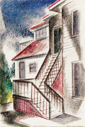 Texas:Early Texas Art - Drawings & Prints, COREEN MARY SPELLMAN (American, 1905-1978). 1205 Oakland, circa 1930s. Watercolor on paper. 22 x 15 inches (55.9 x 38.1 ...