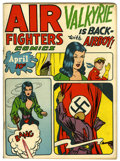 Golden Age (1938-1955):War, Air Fighters Comics V2#7 (Hillman Fall, 1944) Condition: FN/VF....
