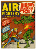 Golden Age (1938-1955):War, Air Fighters Comics #9 (Hillman Fall, 1943) Condition: VF-....