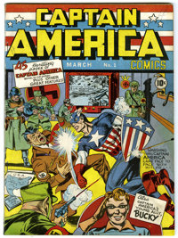 Captain America Comics #1 (Timely, 1941) Condition: Apparent FN/VF Extensive (P)