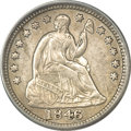 Seated Half Dimes, 1846 H10C --Cleaned--ANACS. XF45 Details....