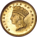 Proof Gold Dollars, 1886 G$1 PR66 Cameo NGC....