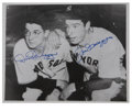 Autographs:Photos, Joe And Dom DiMaggio Signed Photograph....