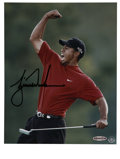 Golf Collectibles:Autographs, Tiger Woods Upper Deck Authenticated Signed Photograph....