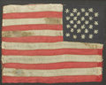 Political:Textile Display (pre-1896), American Flag: A Marvelous Miniature 28 Stars Silk Flag....