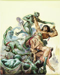 Original Comic Art:Covers, Earl Norem Savage Sword of Conan #38 Cover Painting OriginalArt (Marvel, 1979)....