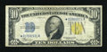 Small Size:World War II Emergency Notes, Fr. 2309* $10 1934A North Africa Silver Certificate Star. Fine.. ...
