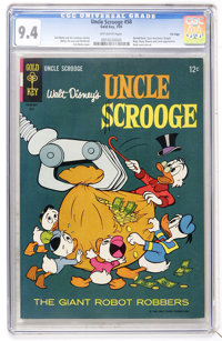 Uncle Scrooge #58 File Copy (Gold Key, 1965) CGC NM 9.4 Off-white pages