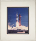Autographs:Celebrities, Neil Armstrong Signed Saturn V Launch Photo....