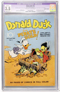 Four Color #9 Donald Duck (Dell, 1942) CGC Apparent VG- 3.5 Moderate (P) Off-white to white pages