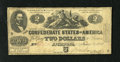 Confederate Notes:1862 Issues, T42 $2 1862. This is a Second Series note. Very Good....