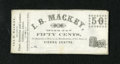 Obsoletes By State:Ohio, Vienna Centre, OH- I.B. Mackey 50¢ Undated circa 1860s. The Wolkareference date these from the 1860s. This is a remainder a...