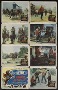 """Movie Posters:Western, Texans Never Cry (Columbia, 1951). Lobby Card Set of 8 (11"""" X 14"""").Western. Starring Gene Autry, Champion, Mary Castle, Rus... (Total:8 Items)"""
