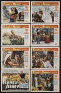 """Movie Posters:Adventure, Flame of Araby (Universal International, 1951). Lobby Card Set of 8(11"""" X 14""""). Adventure. Starring Maureen O'Hara, Jeff Ch... (Total:8 Items)"""
