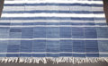 African: , Unknown Group (Mali). Rectangular Textile. Cotton and wool blend ,indigo dye. Length: 106 inches Width: 56 ½ inches. Th...
