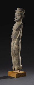 Other: , Lobi (Burkina Faso, Ghana, or Côte d'Ivoire). Female Figure. Wood, encrustations. Height: 22 ½ inches Width: 4 inches Dept...