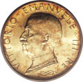 Italy: , Italy: Vittorio Emanuele III gold 100-Lire 1931-R Year X, KM-72,MS66 ICG, a boldly struck, very beautiful Gem Uncirculated coinwi...