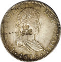 British Honduras: , British Honduras: British Colonial George III Counterstamp, KM4.2, Elizondo 3, incuse crowned GR counterstamp on a Mexico 8 Reales 1816Mo-JJ. ...